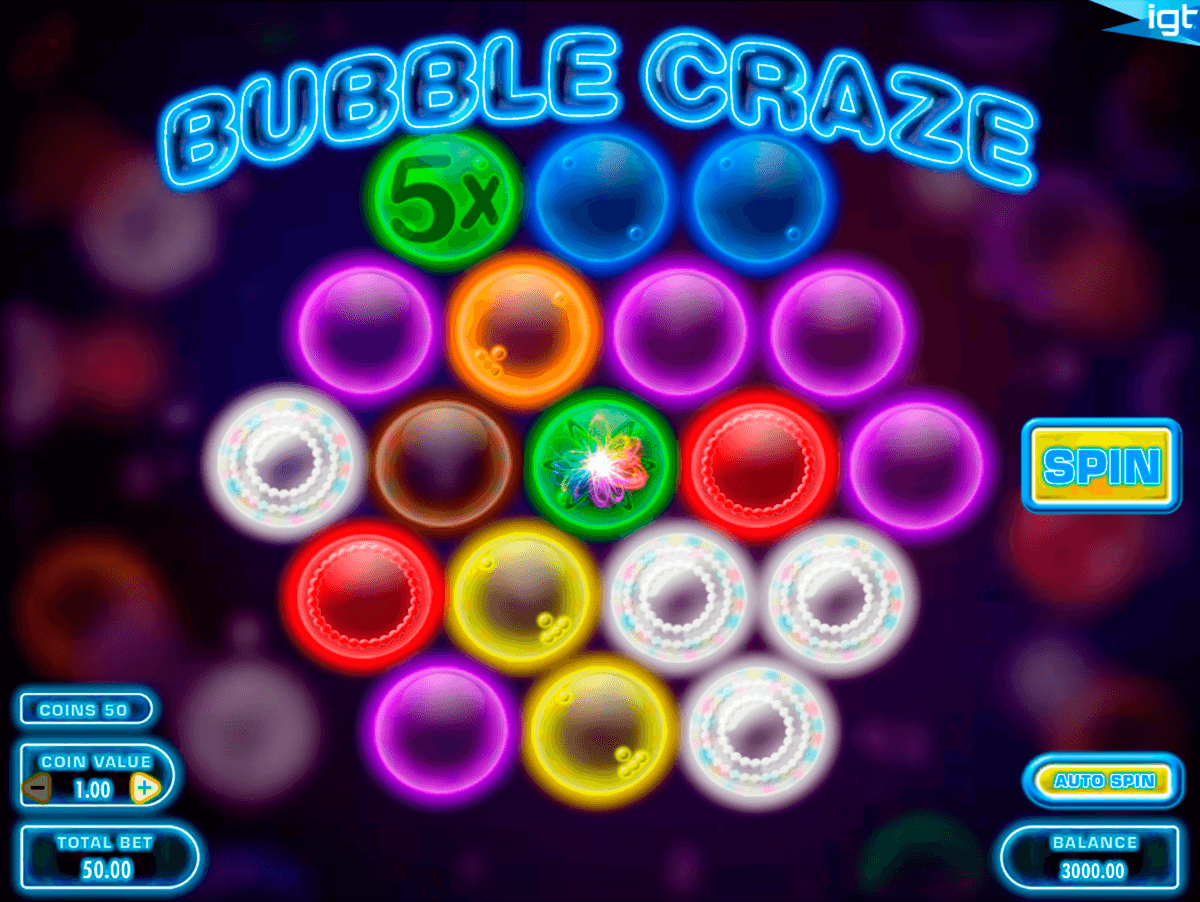 bubble craze igt automat pa nett