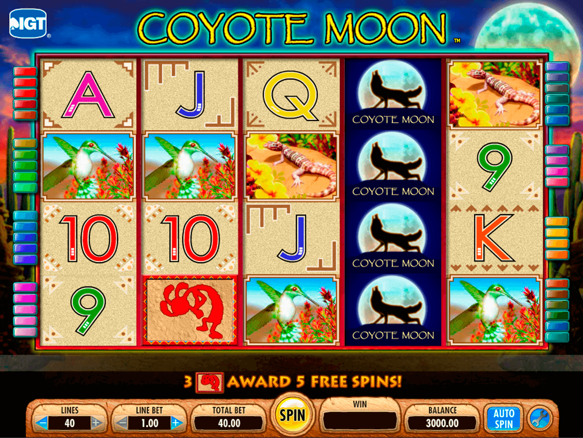 coyote moon igt automat pa nett