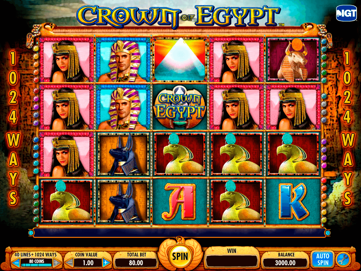 crown of egypt igt automat pa nett