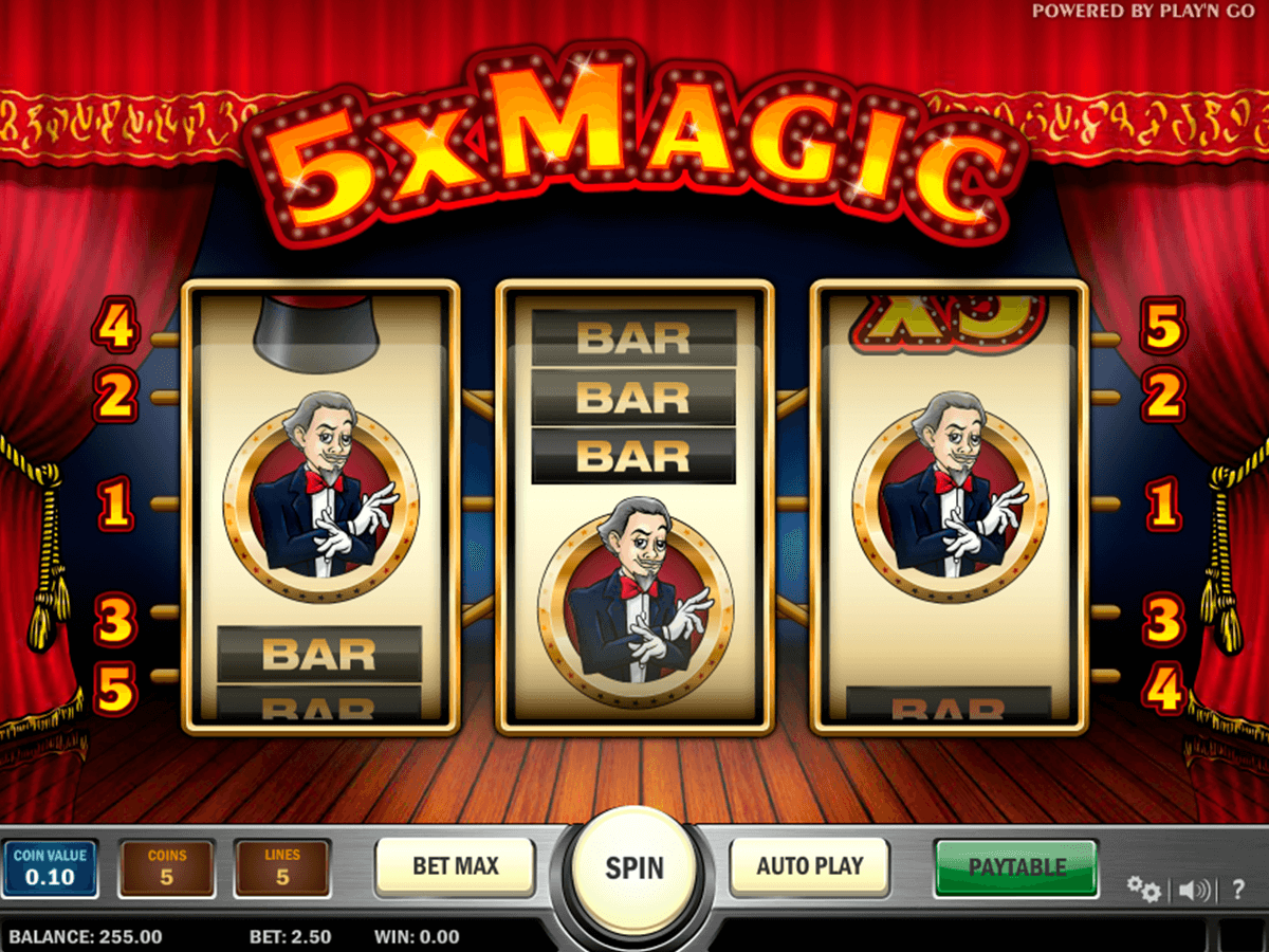 5x magic playn go automat pa nett