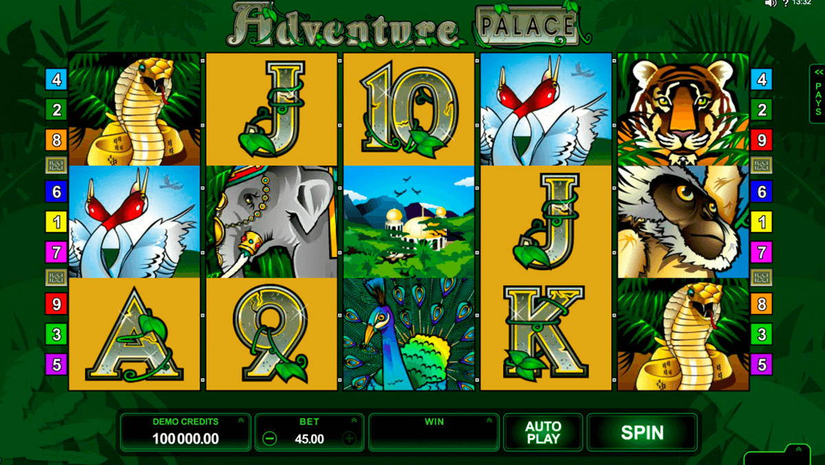 adventure palace microgaming automat pa nett