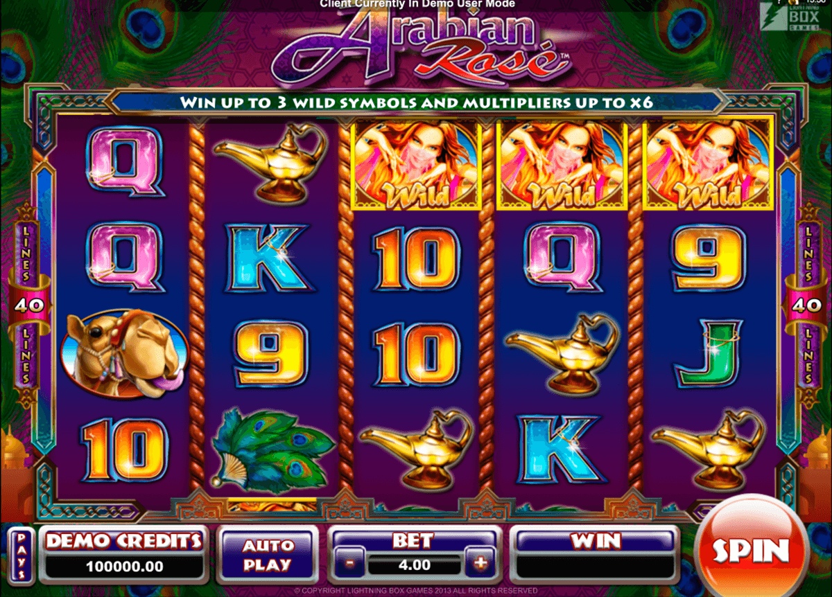 arabian rose microgaming automat pa nett