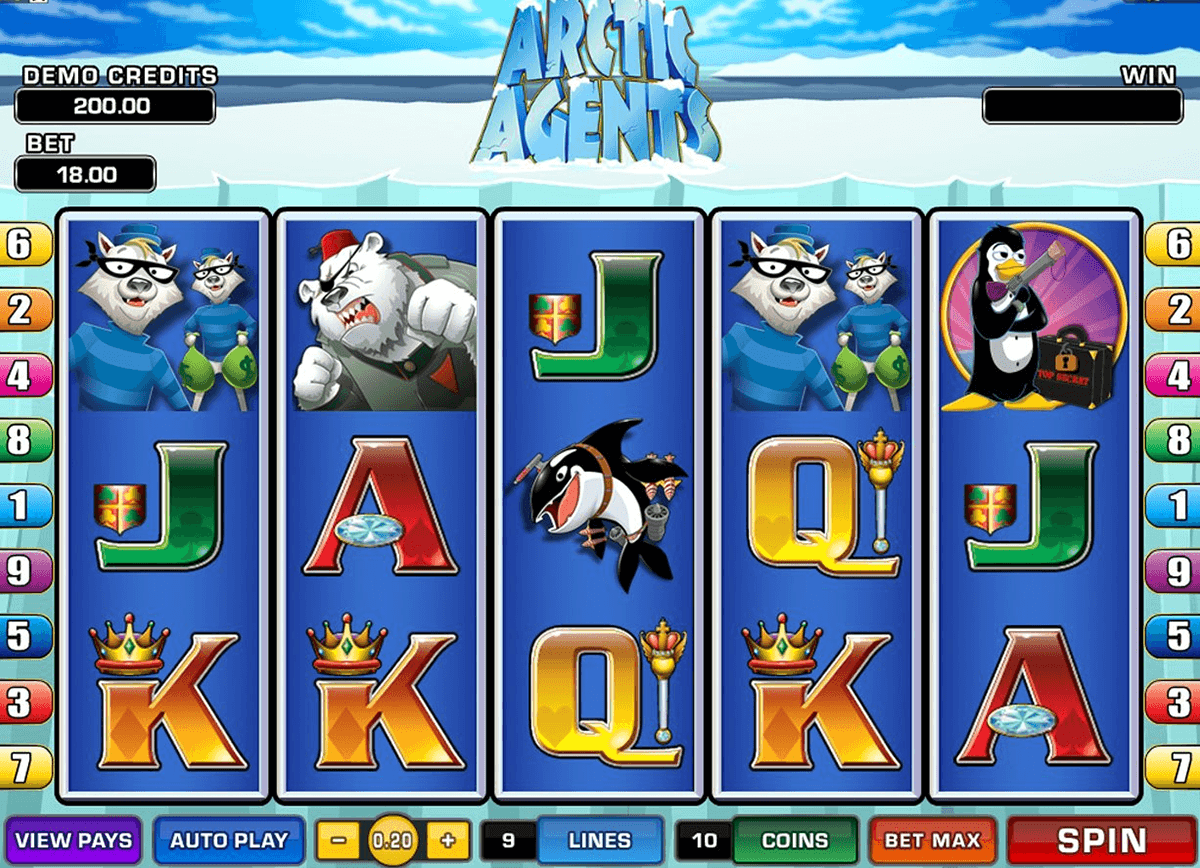 arctic agents microgaming automat pa nett