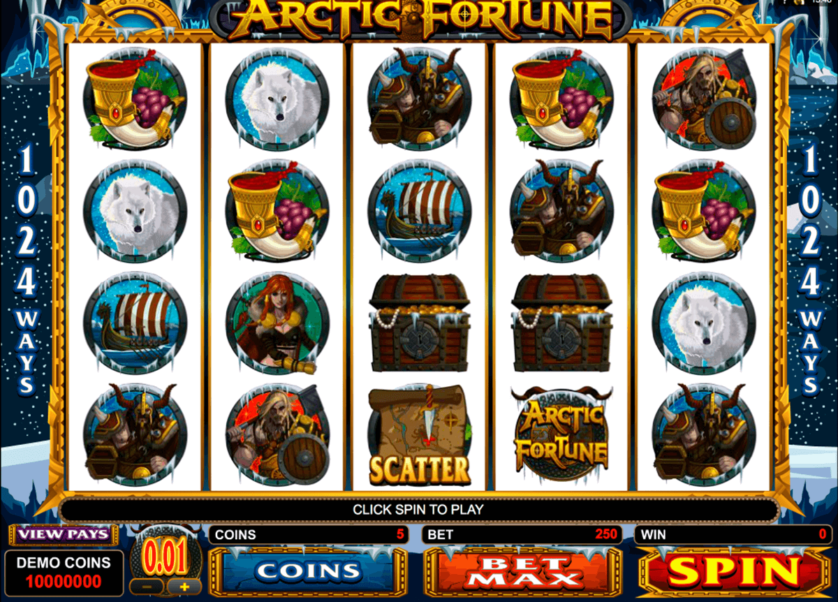 arctic fortune microgaming automat pa nett