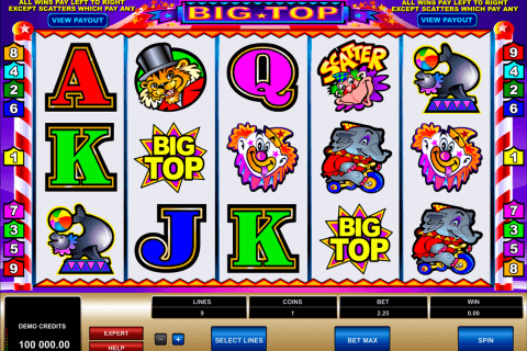 big top microgaming automat pa nett