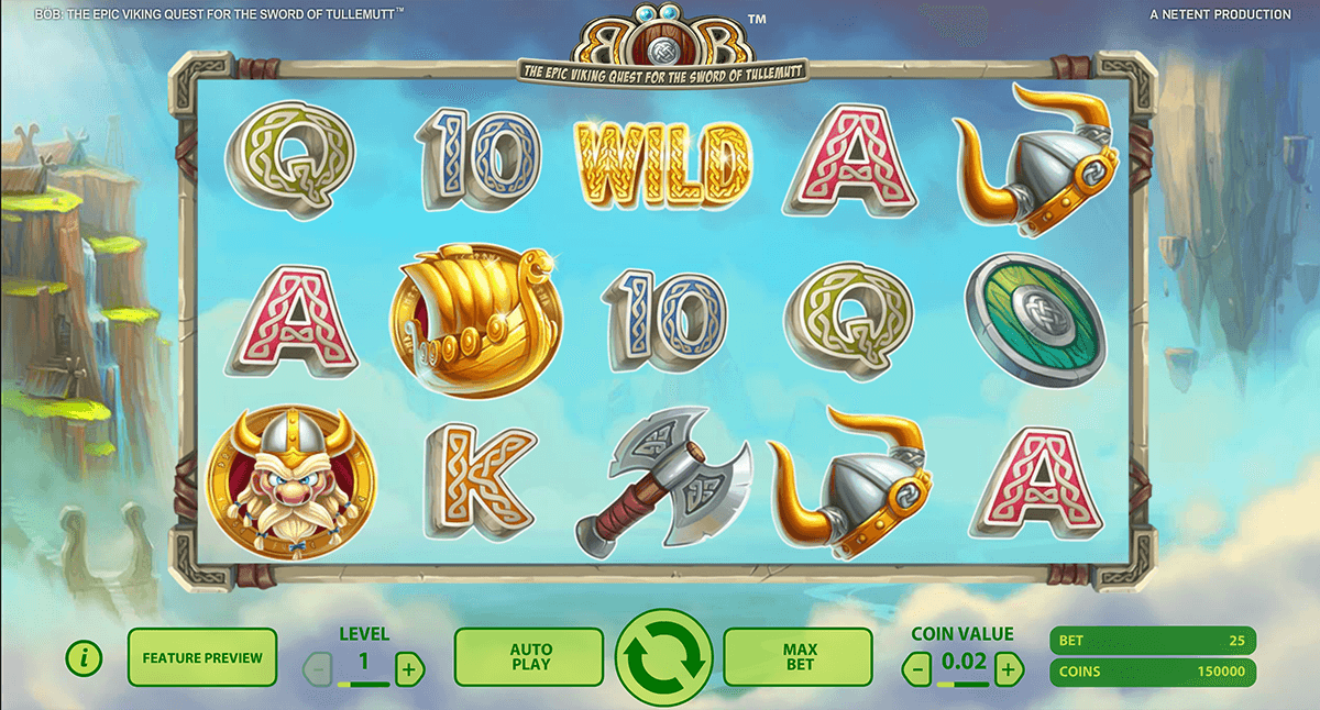 bob the epic viking quest netent automat pa nett