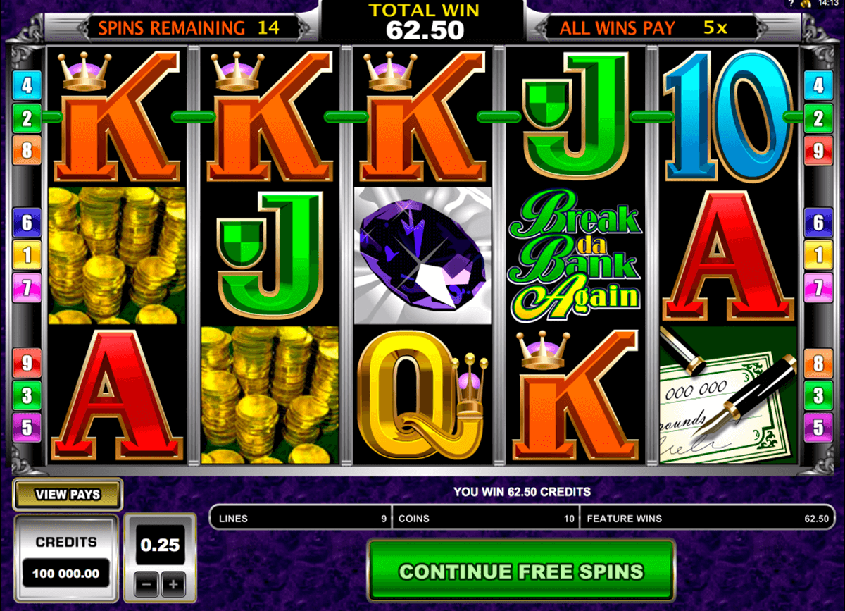 break da bank again microgaming automat pa nett