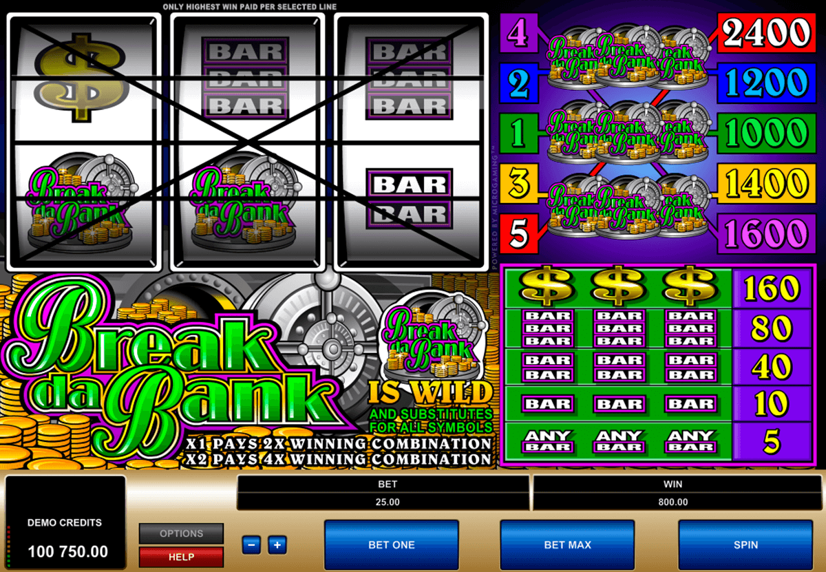 break da bank microgaming automat pa nett