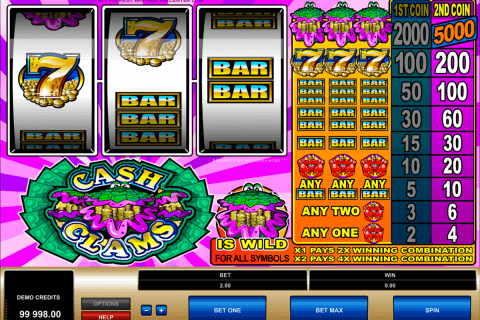 cash clams microgaming automat pa nett