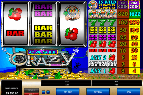 cash crazy microgaming automat pa nett