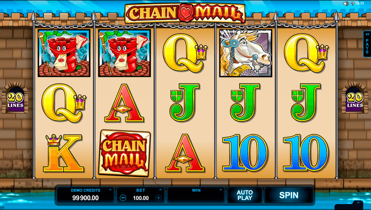 chain mail microgaming automat pa nett