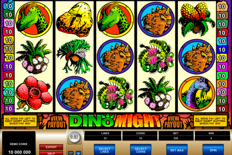 dino might microgaming automat pa nett