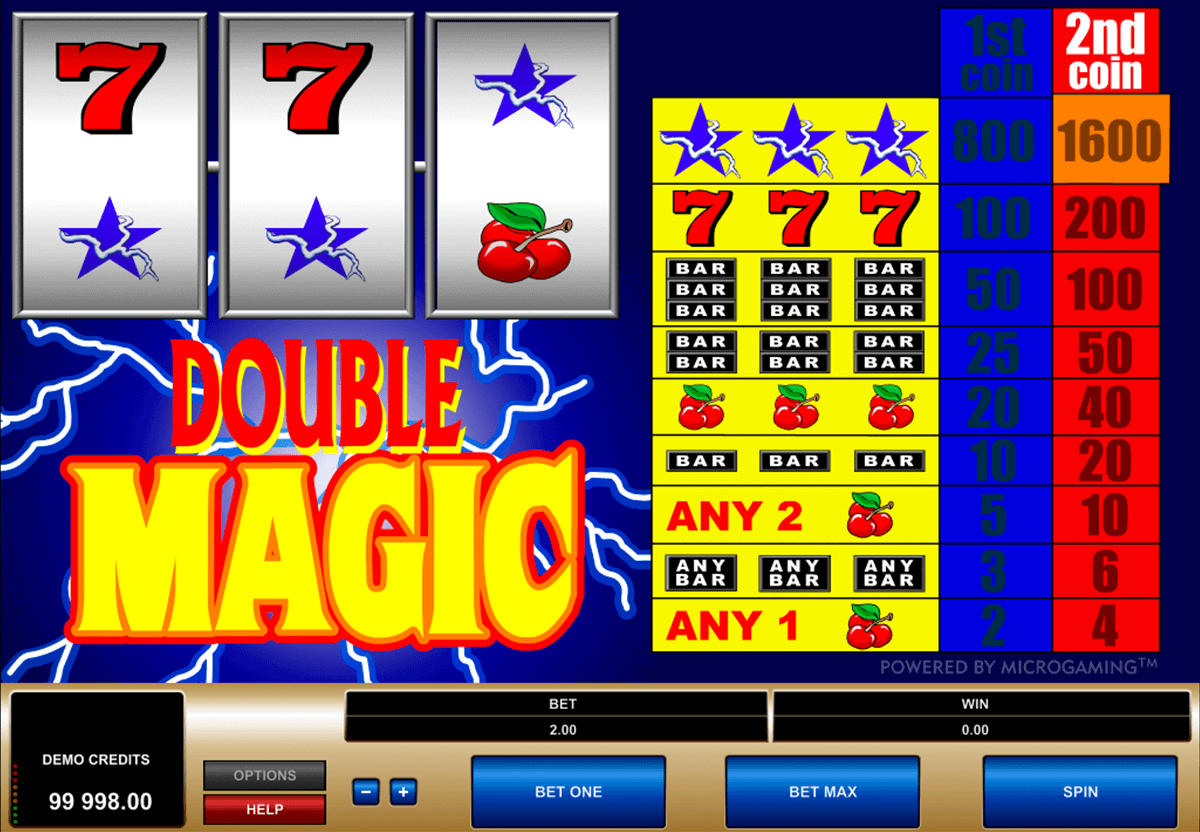 double magic microgaming automat pa nett