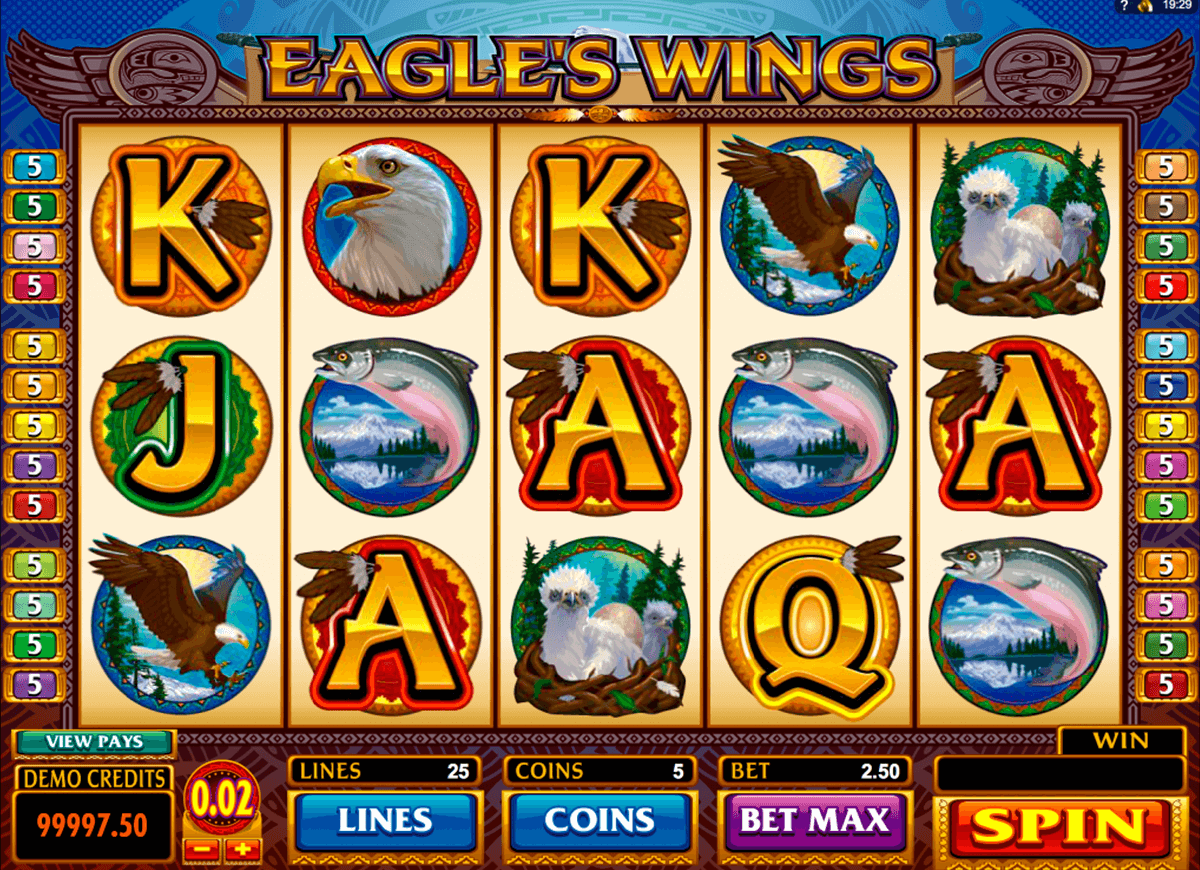 eagles wings microgaming automat pa nett