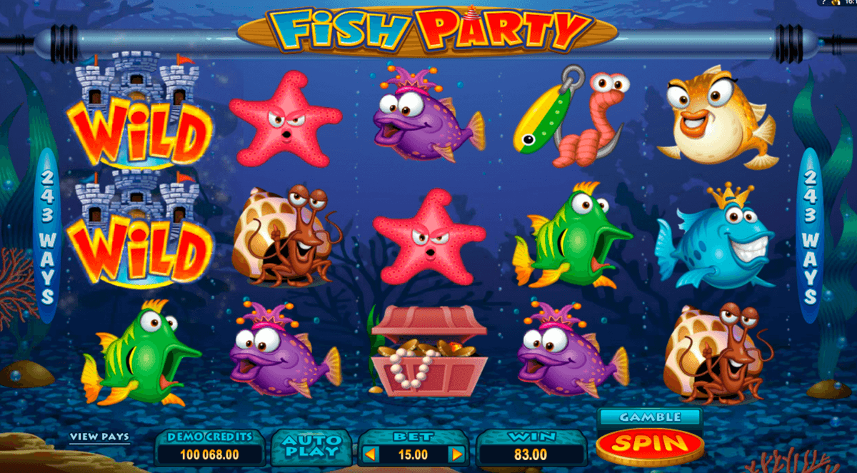 fish party microgaming automat pa nett