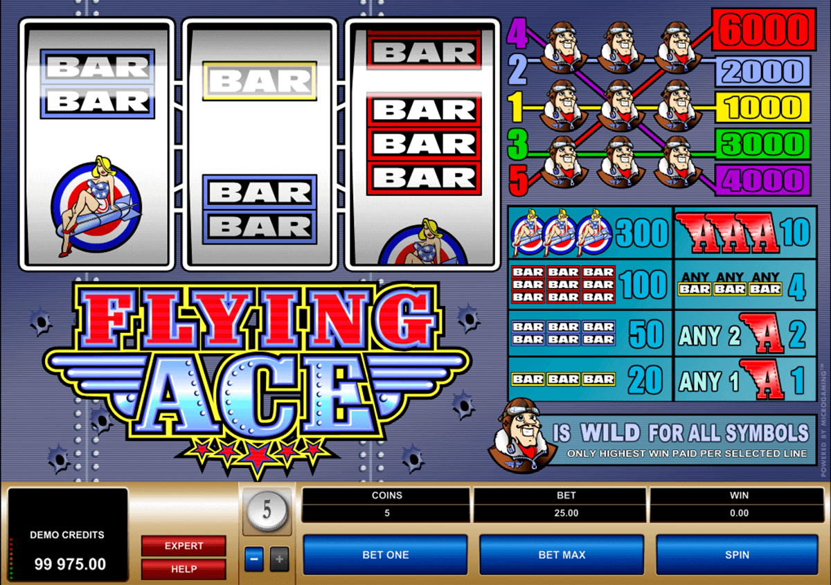 flying ace microgaming automat pa nett
