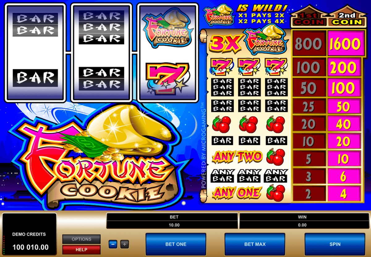fortune cookie microgaming automat pa nett