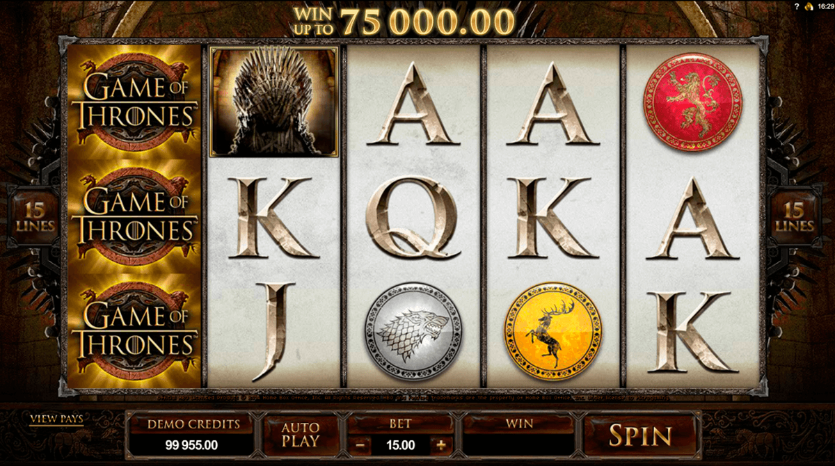 game of thrones 15 lines microgaming automat pa nett