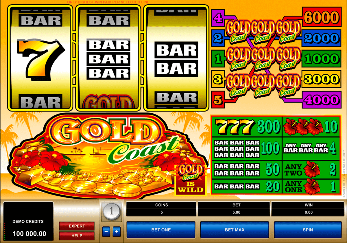 gold coast microgaming automat pa nett