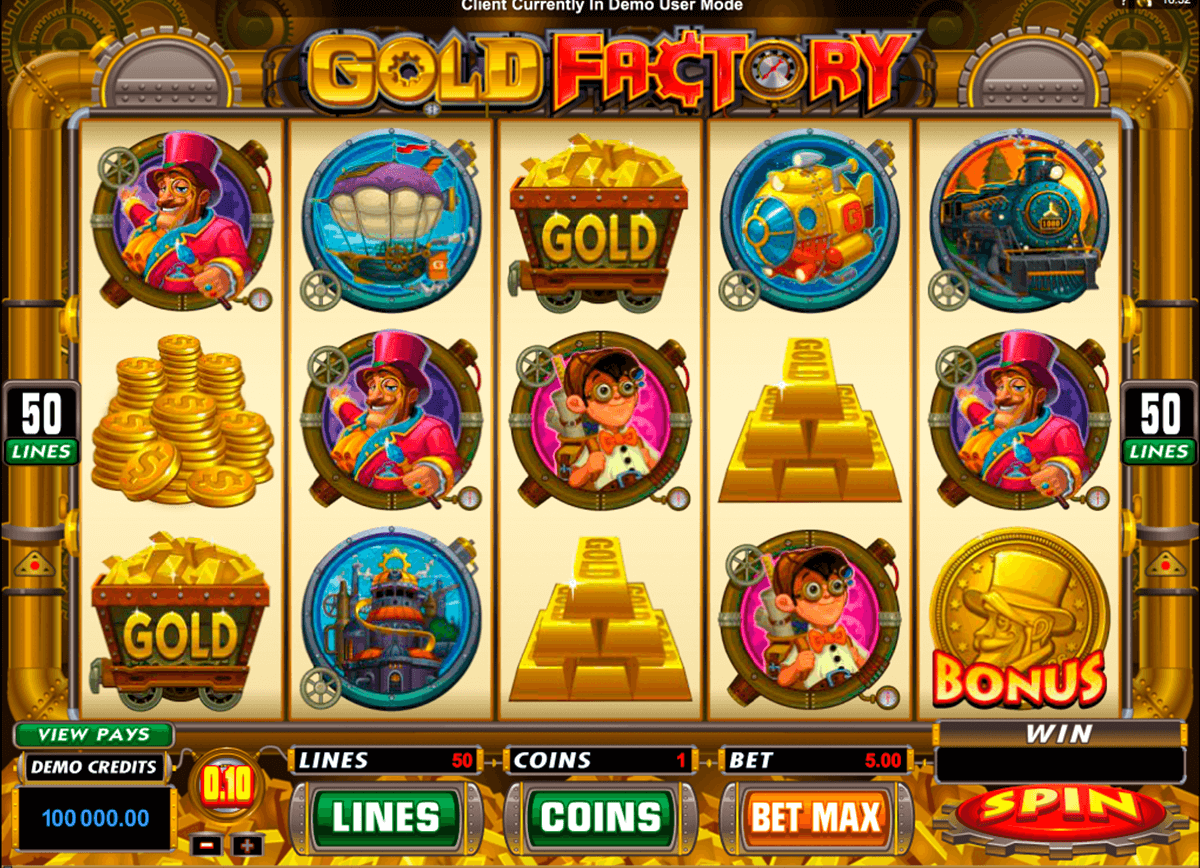 gold factory microgaming automat pa nett