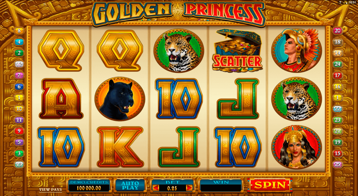 golden princess microgaming automat pa nett