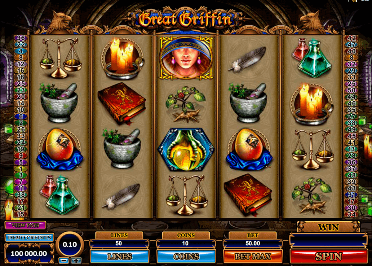 great griffin microgaming automat pa nett
