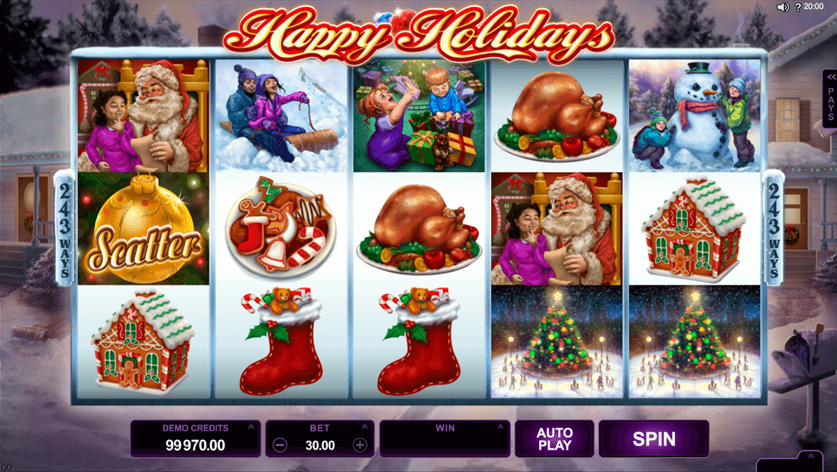 happy holidays microgaming automat pa nett