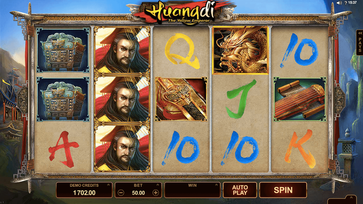 huangdi the yellow emperor microgaming automat pa nett