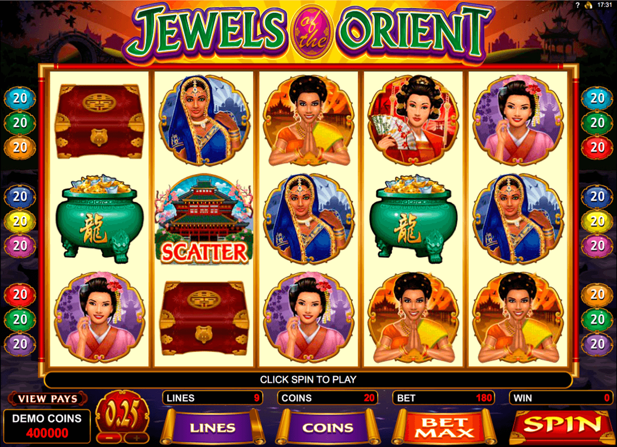 jewels of the orient microgaming automat pa nett
