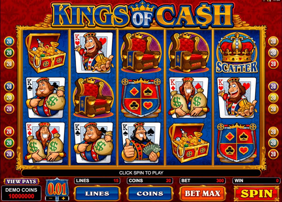 kings of cash microgaming automat pa nett