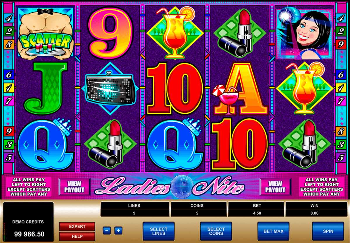 ladies nite microgaming automat pa nett
