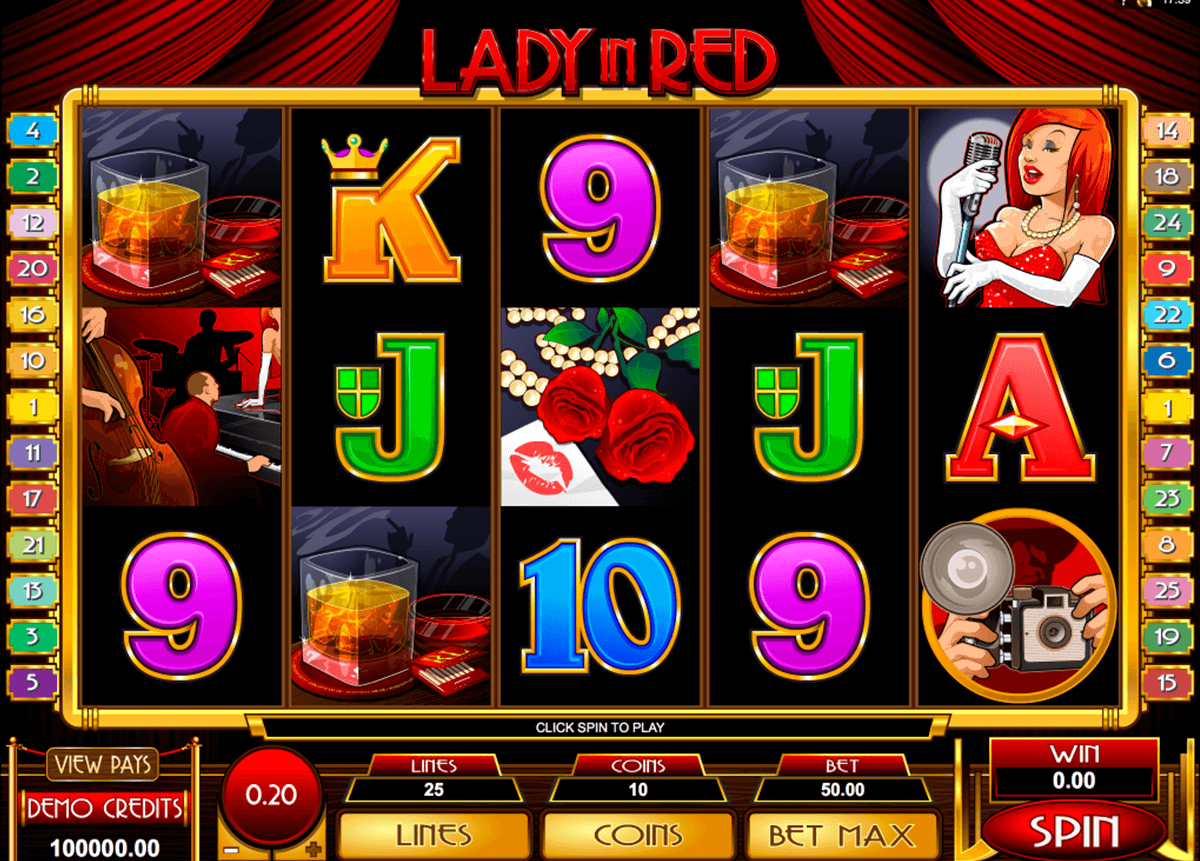 lady in red microgaming automat pa nett
