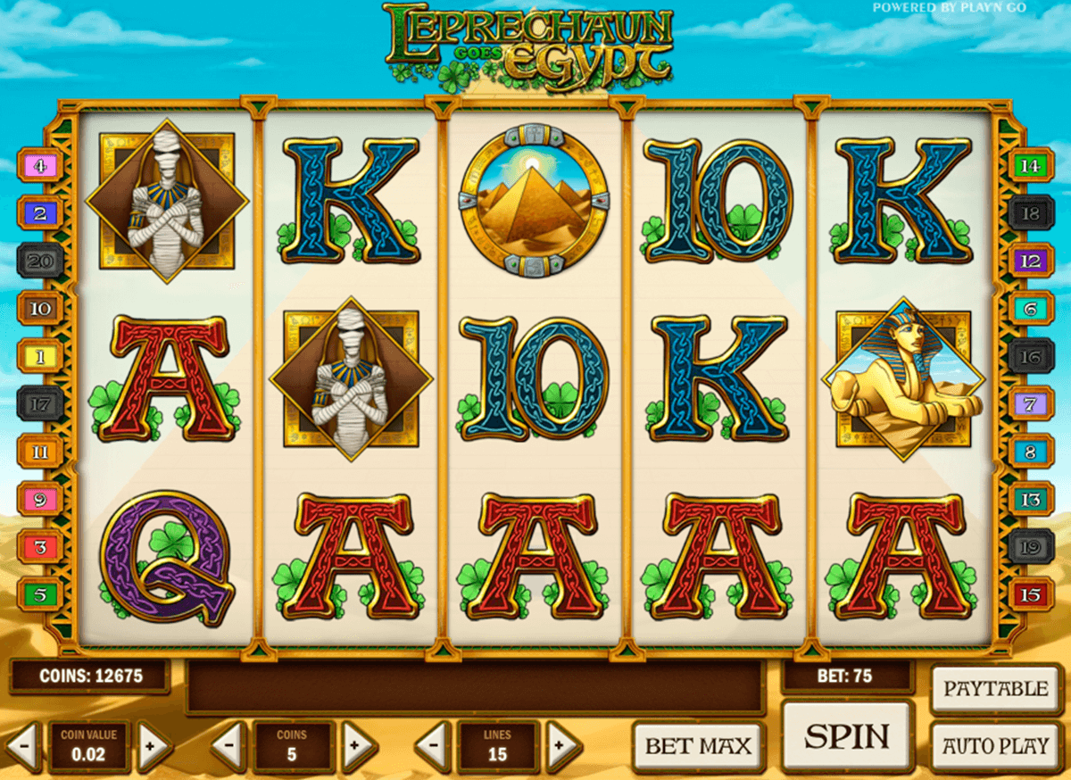 leprechaun goes egypt playn go automat pa nett