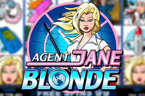 logo agent jane blonde microgaming spilleautomat