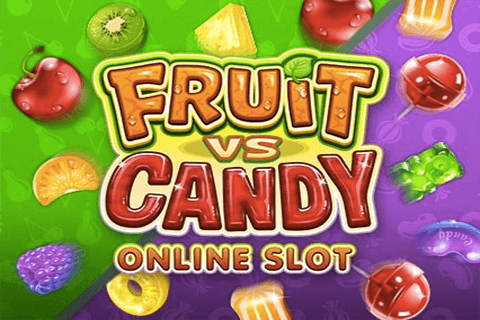 logo fruit vs candy microgaming spilleautomat