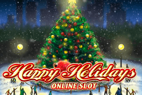 logo happy holidays microgaming spilleautomat