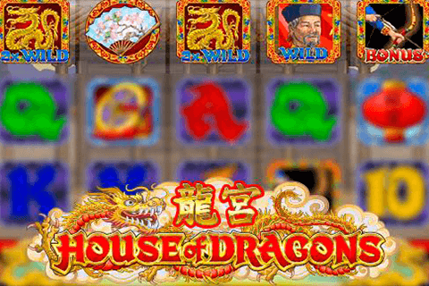 logo house of dragons microgaming spilleautomat