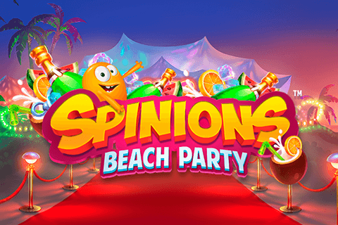 logo spinions beach party quickspin spilleautomat