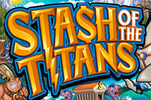 logo stash of the titans microgaming spilleautomat