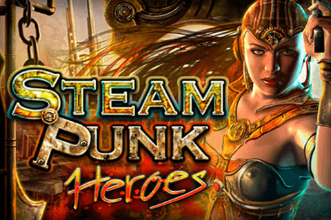 logo steam punk heroes microgaming spilleautomat