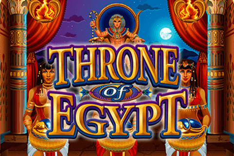logo throne of egypt microgaming spilleautomat