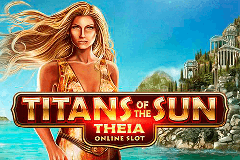 logo titans of the sun theia microgaming spilleautomat