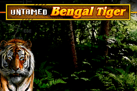 logo untamed bengal tiger microgaming spilleautomat