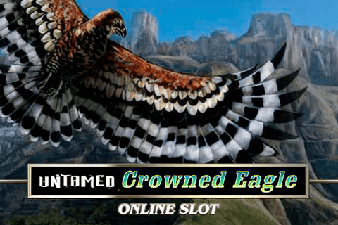 logo untamed crowned eagle microgaming spilleautomat