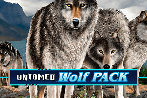 logo untamed wolf pack microgaming spilleautomat