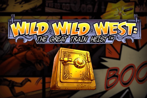 logo wild wild west the great train heist netent spilleautomat