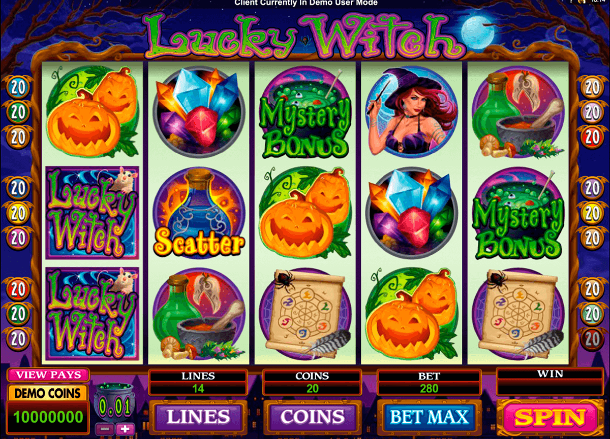 lucky witch microgaming automat pa nett
