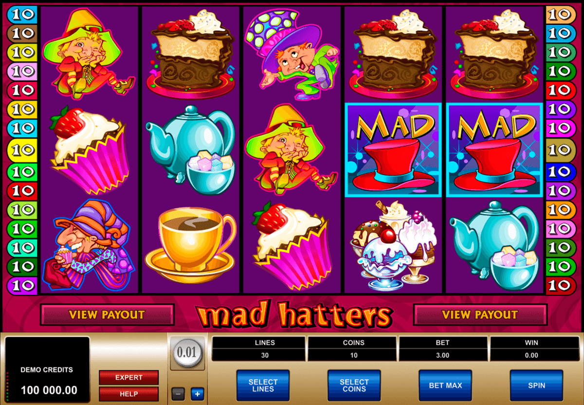 mad hatters microgaming automat pa nett
