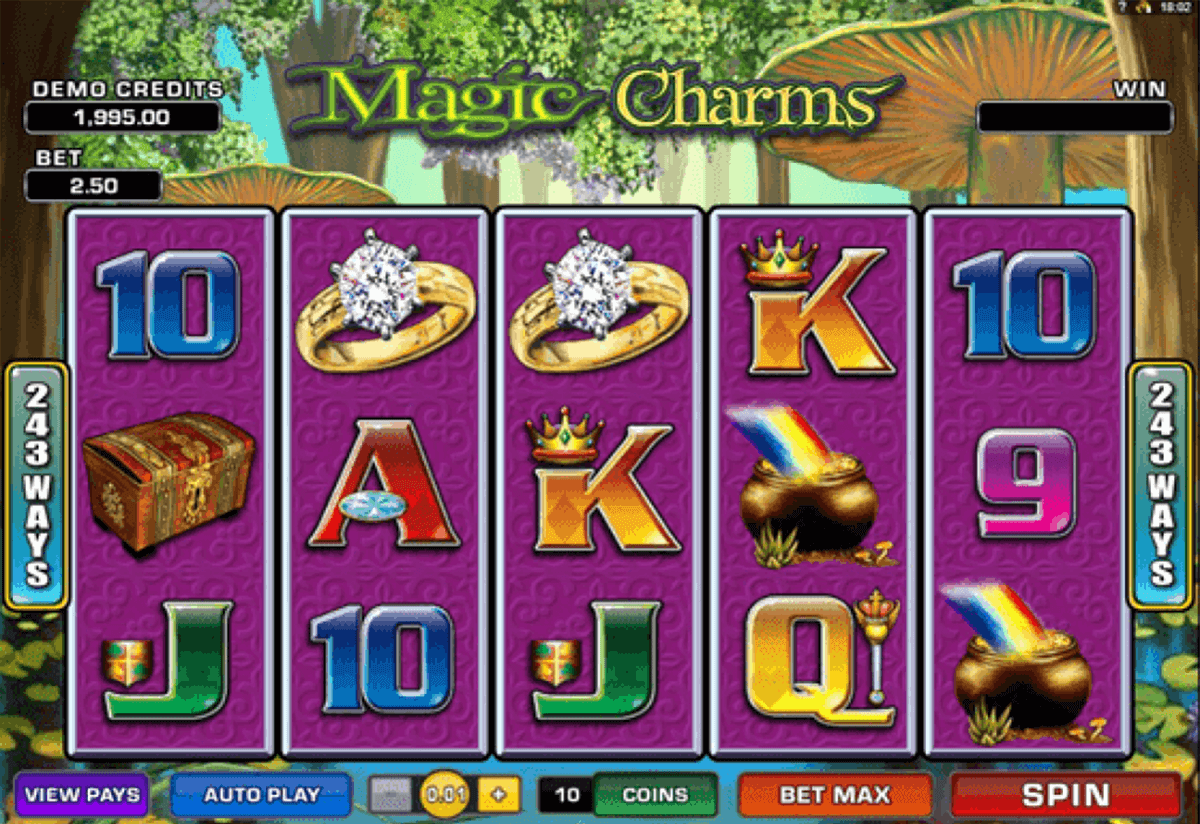 magic charms microgaming automat pa nett