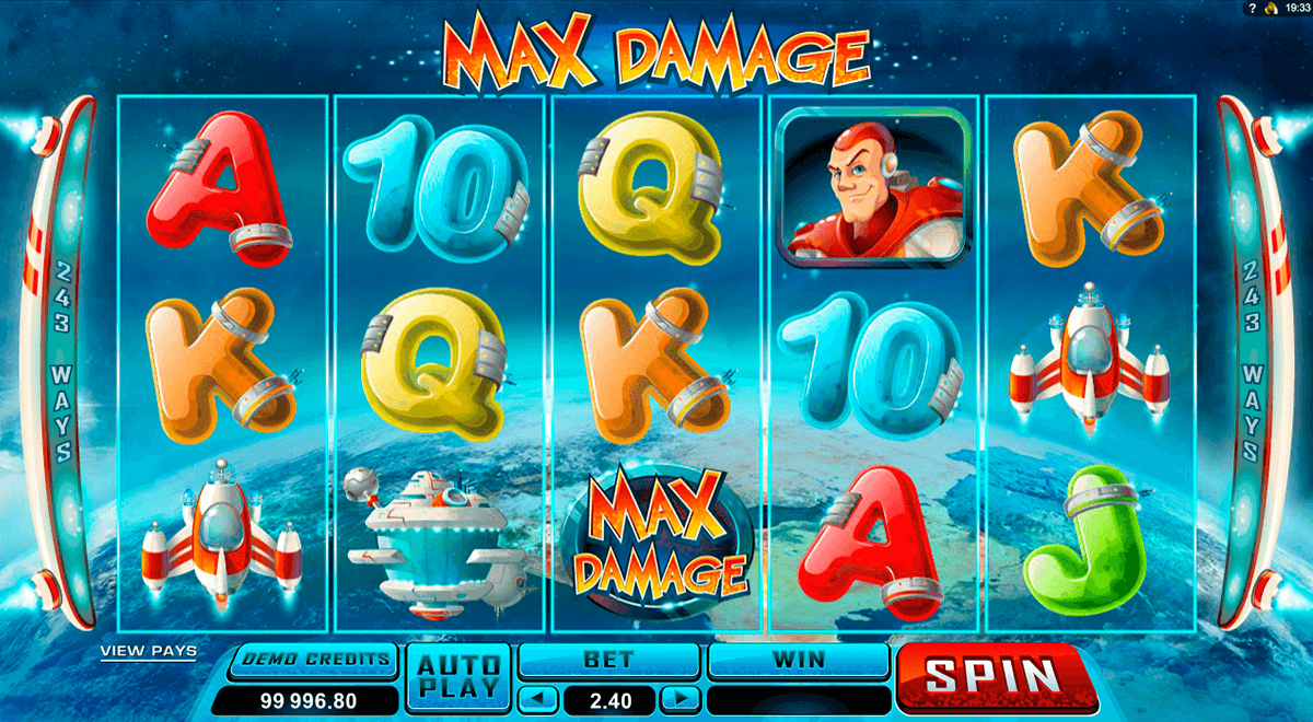 max damage microgaming automat pa nett